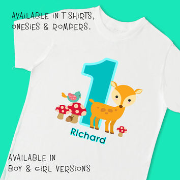 Little Deer 1st Birthday 2nd Personalized T Shirt