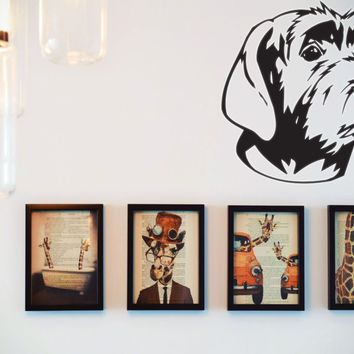 Wirehaired Pointing Griffon Vinyl Wall Decal (Removable Sticker)