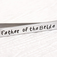 Personalized Father of the Bride Tie Bar