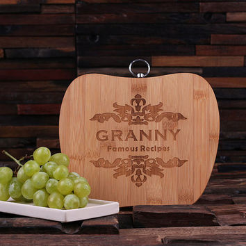 Personalized Bread and Cheese Bamboo Cutting Board