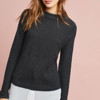 Layered Mock Neck Pullover