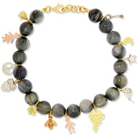 Carolina Bucci - Recharmed Lucky 18-karat yellow, rose and white gold and agate bracelet