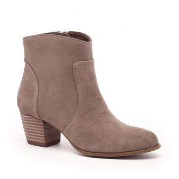 Sole Society Romy Stacked Heel Ankle Bootie