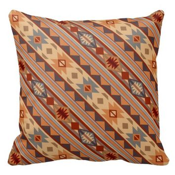 Southwestern Design Tan Throw Pillows