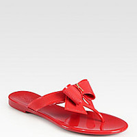 Salvatore Ferragamo - Bali Jelly Bow Thong Sandals - Saks Fifth Avenue Mobile
