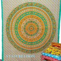 Mandala Hippie Tapestry, Hippy Mandala Wall Hanging, Indian Bedspread Bed Sheet Cover Throw, Bohemian tapestry Drom tapestry wall art