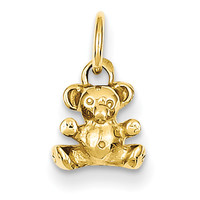 14k Polished Teddy Bear Charm K1325