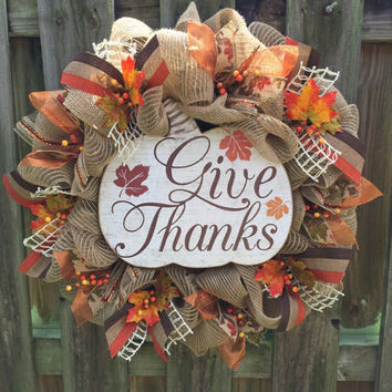 Front Door Wreath, Fall Wreath, Rustic Wreath, Burlap Wreath, Deco Mesh Wreath, Thanksgiving Wreath, Wreath