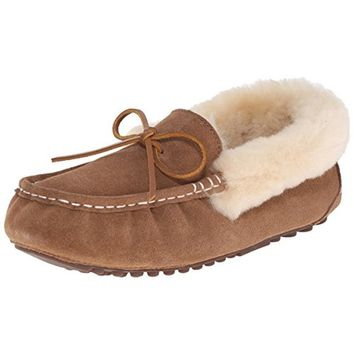 Pajar Womens India Suede Faux Fur Moccasin Slippers