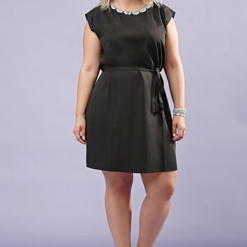 Plus Size Rhinestone Belted Sheath Dress | Forever 21 PLUS - 2000145415
