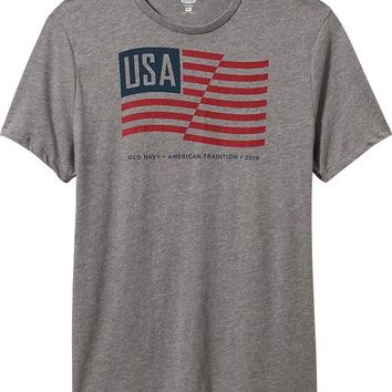Old Navy Mens 2015 Flag Tees