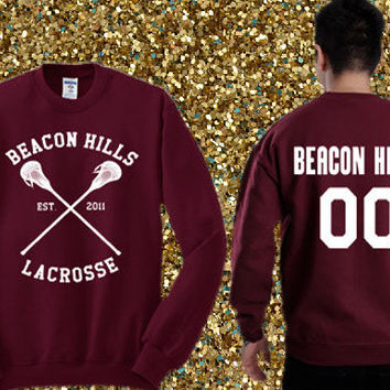 Beacon Hills Lacrosse - Derek Hale 00 Sweater , crewneck sweater available for men and woman unisex adult