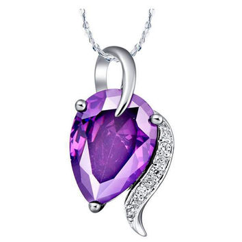 Crystal Water Droplets Silver 925 Pendant = 5839736897