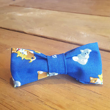 Dog Bow tie Shiba Inu Slide-on