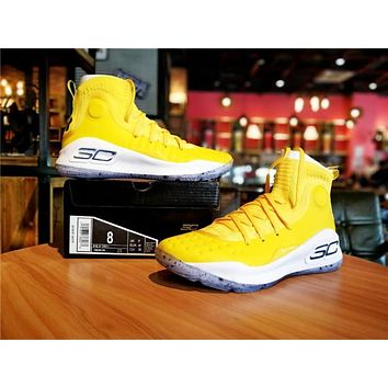 Under Armour Curry 4 Yellow Birthday Basketball Shoe