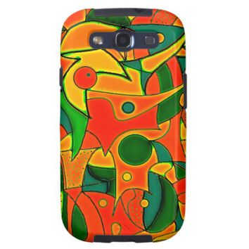 Color Jungle Red Inspiration Samsung Galaxy SIII Case