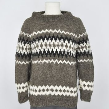 Icelandic Pattern Wool Sweater
