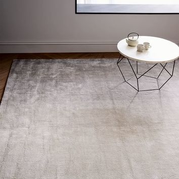Ombre Shine Wool Rug - Soot