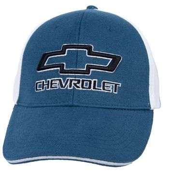 Chevy Hat Two Tone Mesh Back Embroidered Cap