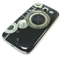 Worldshopping Retro Camera Lens Hard Plastic Skin Case Back Cover for Samsung Galaxy S3 SIII i9300, Free Accessory