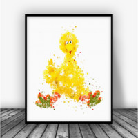Sesame Street Big Bird Art Print Poster