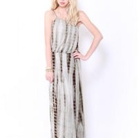 A/O BAMBOO TYE DYE KNIT MAXI DRESS - JUST ARRIVED