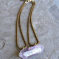 Biko  Trapped Crystal Pendant at Free People Clothing Boutique