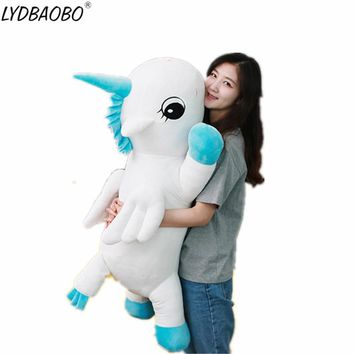 1pc 65cm Giant Lovely Unicorn Plush Toys Giant Stuffed Cute Unicornio Animal Soft Doll Home Decor Children Kid Photo Props Gifts