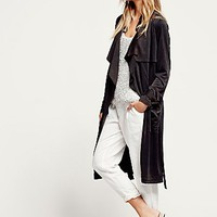 Free People Womens Knit Trench Coat
