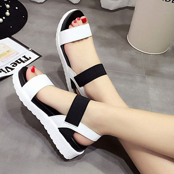 2017 New Women shoes Summer Women sandals peep-toe flat Shoes sandals