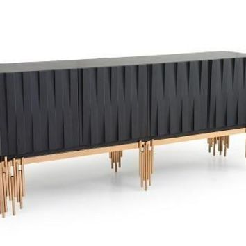 Modrest Token Modern Black & Rose Gold Buffet