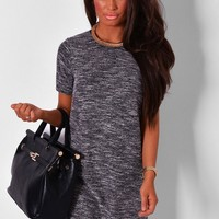 Canterbury Grey Marl Knitted Shift Dress | Pink Boutique