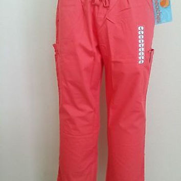Peaches Uniforms Women's Scrub Bottom Pants - 7397 W/ Cargo Pockets - Seashell