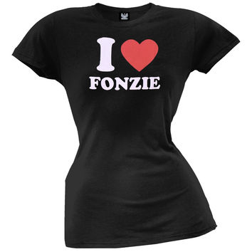 Happy Days - I Heart Fonzie Juniors T-Shirt