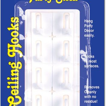 Party Stick Ceiling Hooks - CASE OF 12