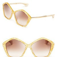 Miu Miu Oversized Layered Star Sunglasses | Bloomingdale's