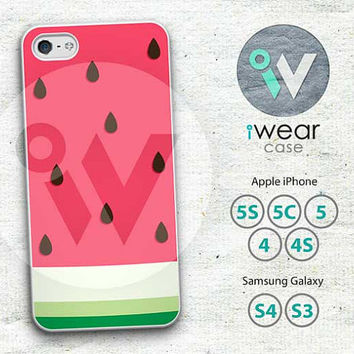 Watermelon iPhone 4 Case, Cute Fruit iPhone 4 4g 4s Hard & Rubber Case, Watermelon cover skin case for iphone 4/4g/4s case