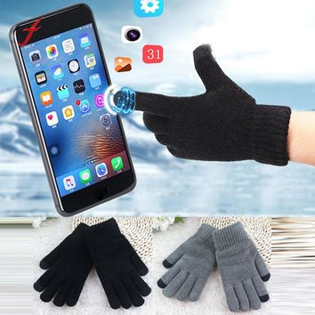 Feitong Quality Unisex Mittens Screen Gloves Soft Winter Men Women Texting Cap Active Smart Phone Knit Female Gloves Soft Warm