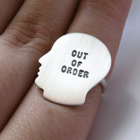 Out of Order - silhouette ring in sterling silver