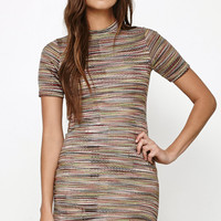 Honey Punch Space Dye Bodycon T-Shirt Dress at PacSun.com