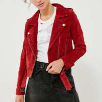 BLANKNYC Red My Mind Suede Jacket | Urban Outfitters
