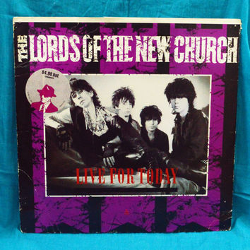 "Vintage 80s The Lords Of The New Church Live For Today 12"" Single Vinyl Record"