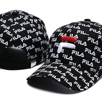 FILA Women Men Embroidery Sports Sun Hat Baseball Cap Hat