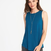 Luxe High-Neck Swing Tank for Women|old-navy