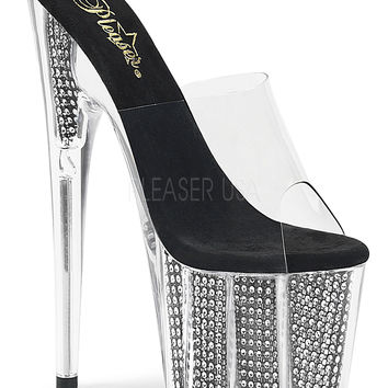 Platform Stripper Slide With 7 Inch Heels
