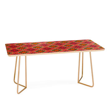 Sharon Turner Tangerine Kilim Coffee Table