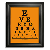 The Nightmare Before Christmas Eye Chart, Everyone Hail To The Pumpkin King, 8 x 10 Giclee Print BUY 2 GET 1 FREE