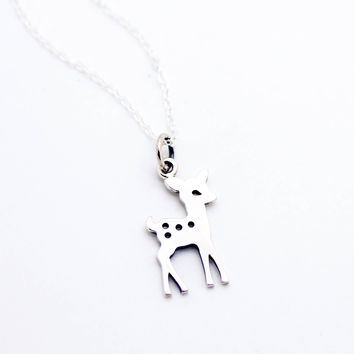 Bambi sterling silver necklace