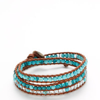 Gemstone & Crystal Bead Wrap Bracelet by Chan Luu at Gilt