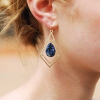 Midnight Stone Earring - Lotus Boutique